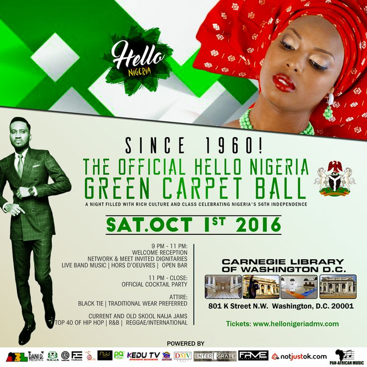 OFFICIAL NIGERIAN INDEPENDENCE DAY BALL @ CARNEGIE HALL, DC, SAT OCT 1ST,