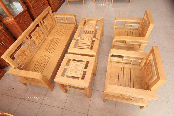 Bàn ghế phòng khách gỗ PK290