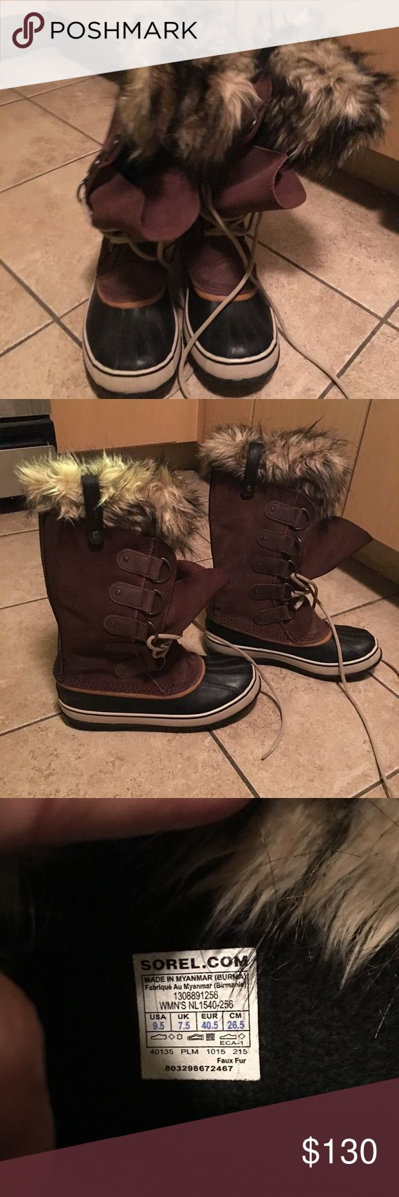 Sorel Winter boots Worn maybe three times...like new! Cute and warm Sorel Shoes Winter & Rain Boots