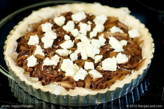 Onion and Fennel Phyllo Tart with Goat Cheese: Give a traditional tart ...