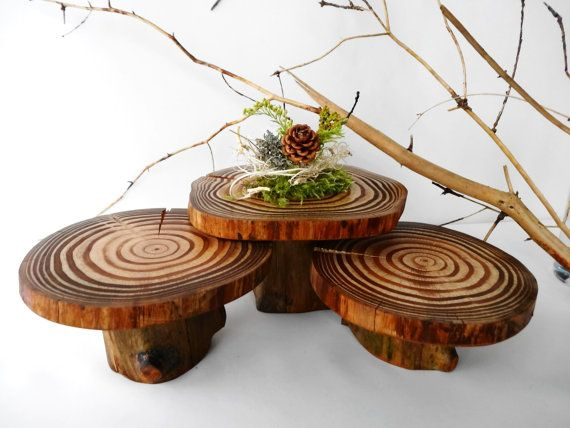 Wooden Centerpiece Cupcake Stands Wooden Cupcake by DaliasWoodland