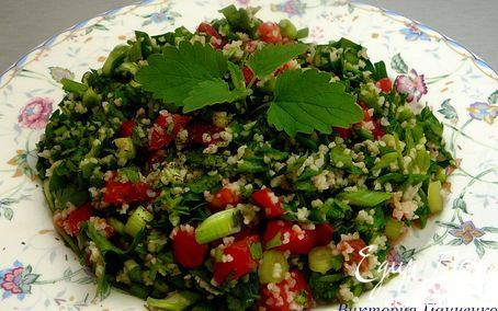 Табуле. Салат с булгуром и зеленью | Кулинарные рецепты от «Едим дома!»