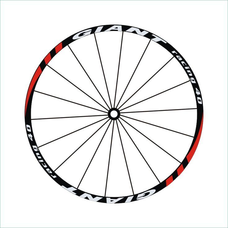 'racing 40' 2Wheels/set Mountain Bike  wheel Stickers  Decals MTB 26'' 27.5'' 29er Wheel Stickers Wheel Decorative Stickers