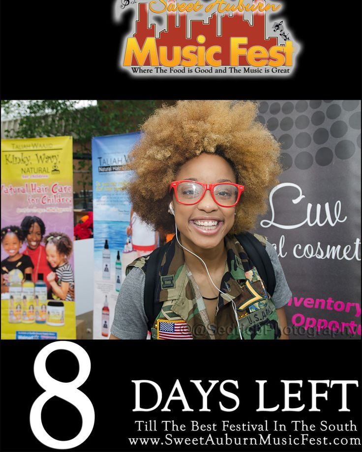 8 More Days till the best festival in the Atl!Hope to see you there! @sweetauburnmusicfest  #sweetauburnmusicfest #samusicfest #samusicfest2017 #Atlanta #picoftheday #1 #hiphop #randb #musicians #music #soul #jazz #gospel #fest #festival #auburnave #edgewood #4thward #history #vendors #food #international #Georgia #family #friends #people #goodfoodgreatmusic #Smiles