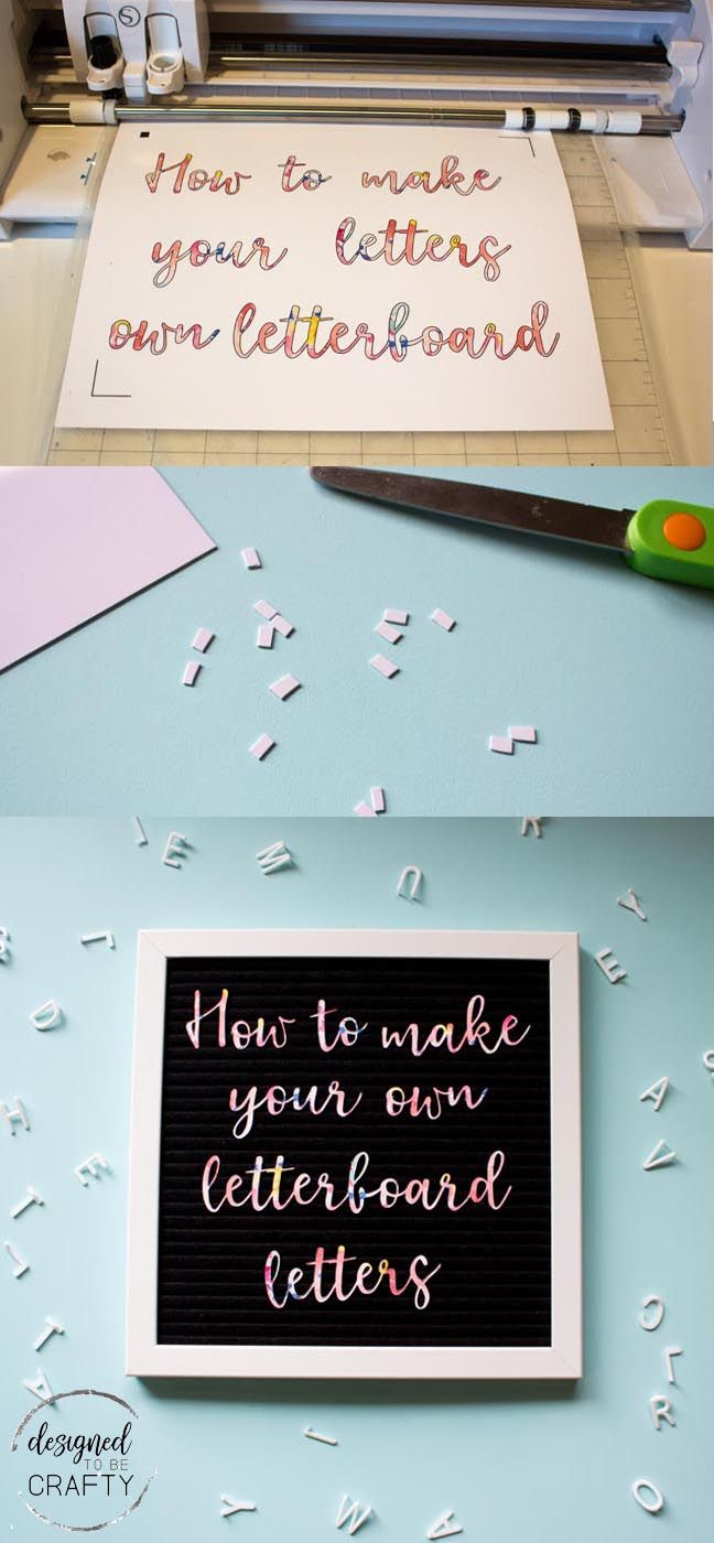 How to make your own letterboard letters! DIY by Designed to be Crafty.