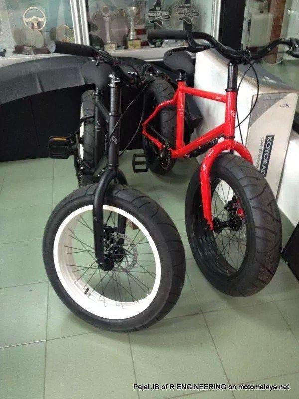 Modifikasi Sepeda Pakai Velg Dan Ban Motor Keren Jadi Tampak Gambot Aripitstop Sepeda Bmx Sepeda Velg