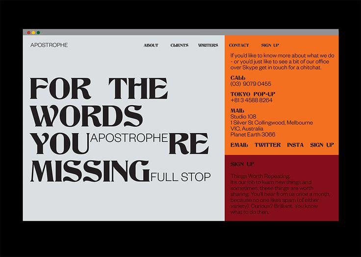 Gemma Mahoney — Identity for Apostrophe, copywriting company
