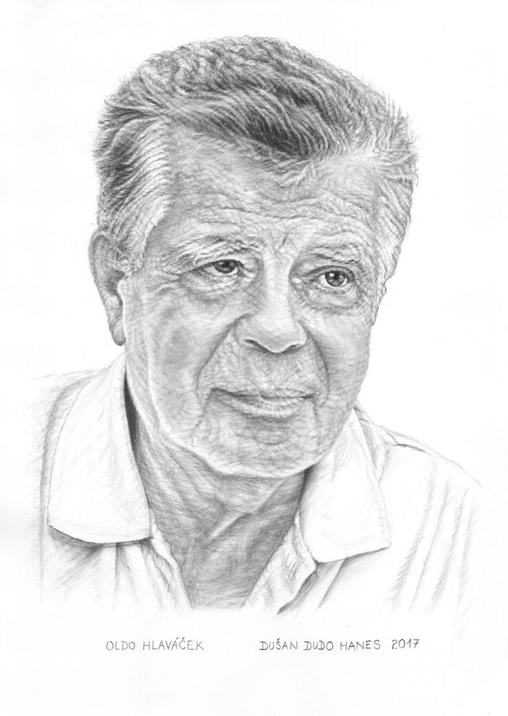 Oldo Hlaváček, portrét Dušan Dudo Hanes