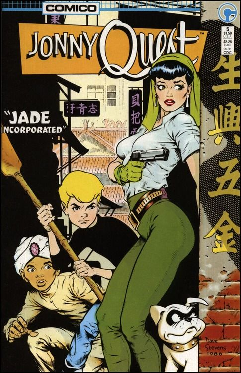 Jonny Quest #5 cover by Dave Stevens    one of my top five all time fave covers!