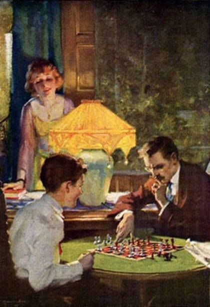 CHAMBERS Charles Edward (1883 – 1941) Checkmated.