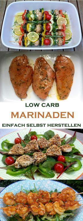 low carb Marinaden ganz einfach selbst herstellen  Egal ob Gemüse, Fleisch oder Fisch… mit der richtigen Marinade wird's erst richtig lecker.  Natürlich verwenden wir für die low carb Marinaden nur kohlenhydratarme Zutaten.  Bei der reichhaltigen Auswahl ist das aber überhaupt kein Problem.  Haushaltszucker und Honig lassen wir ganz weg. Beim Senf schauen wir auf die Kohlenhydrate. Dijon-Senf hat am wenigsten. #low carb #abnehmen #Barbecue #Grillen #Marinade #Food #Rezept #Foodblog