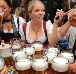 Dirndls and Beers and Pointing is listed (or ranked) 78 on the list The 100 Sexiest Dirndl Girls in Oktoberfest History
