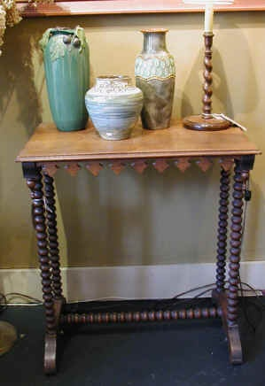 English Gothic Revival Barley Twist Side Table: Revival 17401870