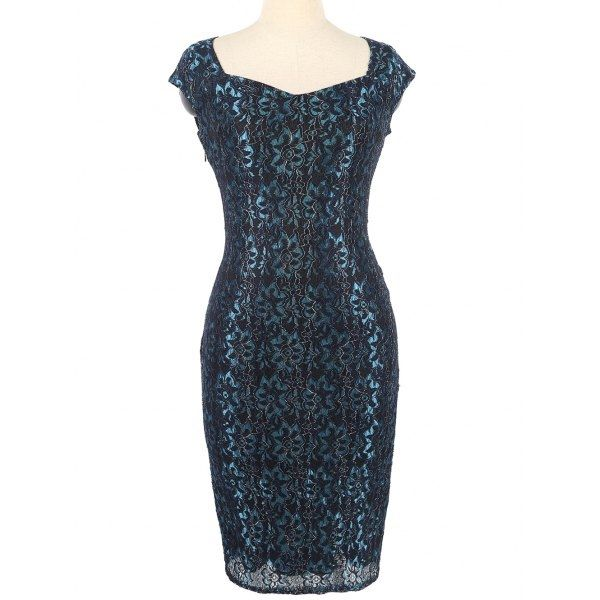 19.86$  Buy here - http://di4kl.justgood.pw/go.php?t=202258106 - Invisible Zipper Flower Pattern Bodycon Dress 19.86$