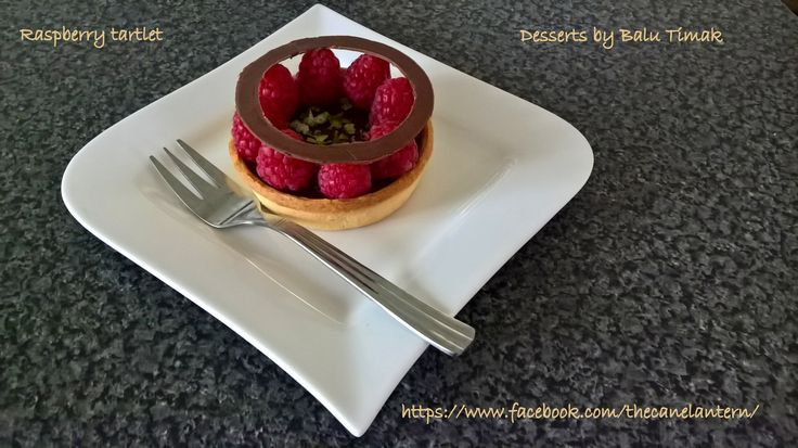 Raspberry Tartlet.Chocolate ganache.