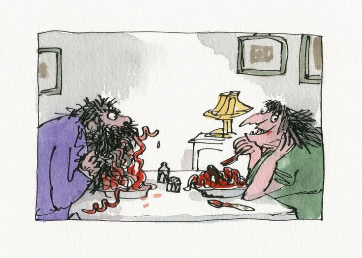 A Quentin Blake Art Show Is Bringing Your Favorite Children's Books Back To Life - the Twits. 2010