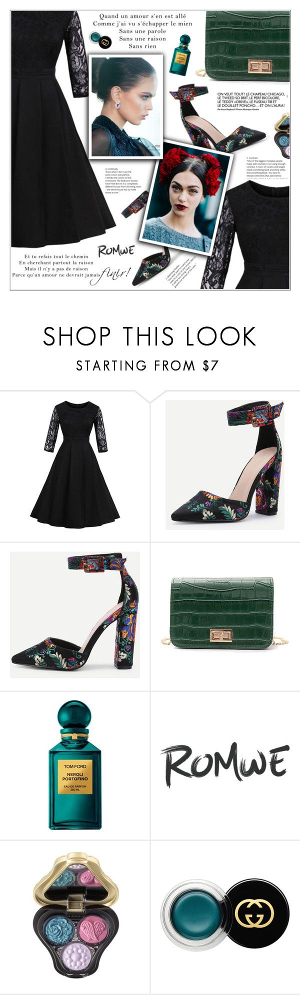 """Little Black Dress"" by shambala-379 ❤ liked on Polyvore featuring Tom Ford, Anna Sui and Gucci"