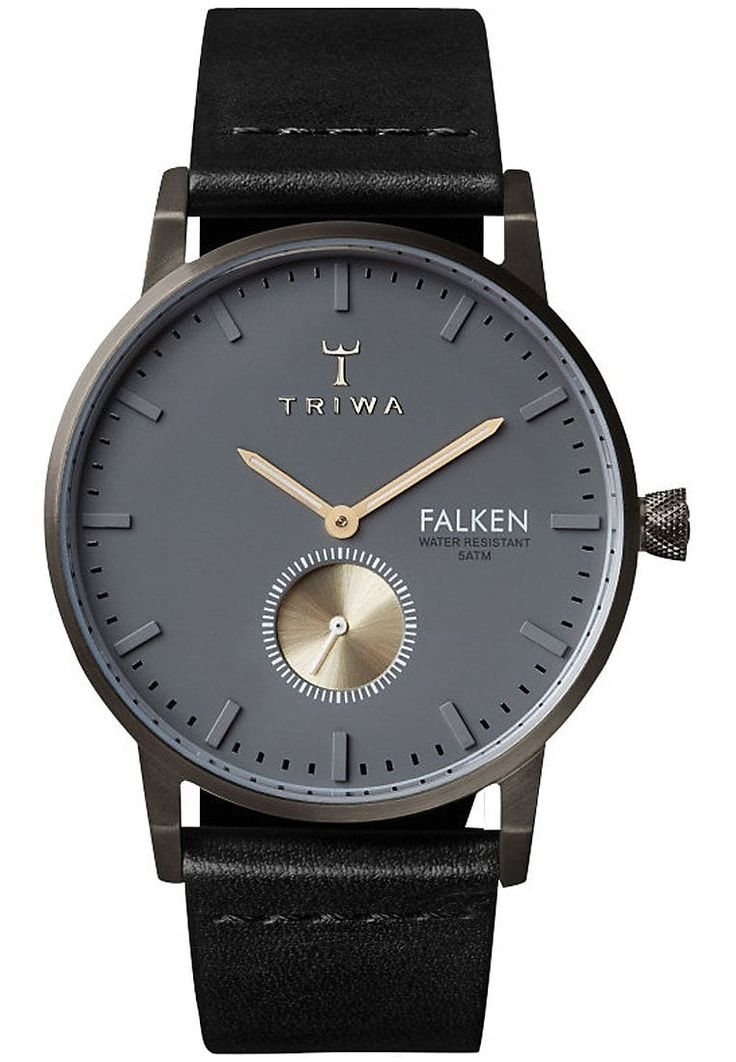 TRIWA | Montre TRIWA pour Homme - Bracelet en cuir noir - Schwarz 199.00€ | Le meilleur de la mode Homme et Femme. Sélection shopping