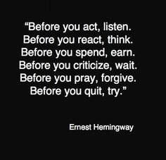 Wise words from Papa #hemingway #inspiration
