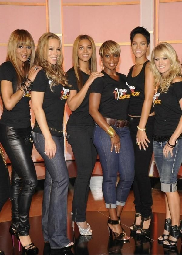 Ciara, Mariah Carey, Beyonce, Mary J Blige, Rihanna, Carrie Underwood at Stand Up 2 Cancer.