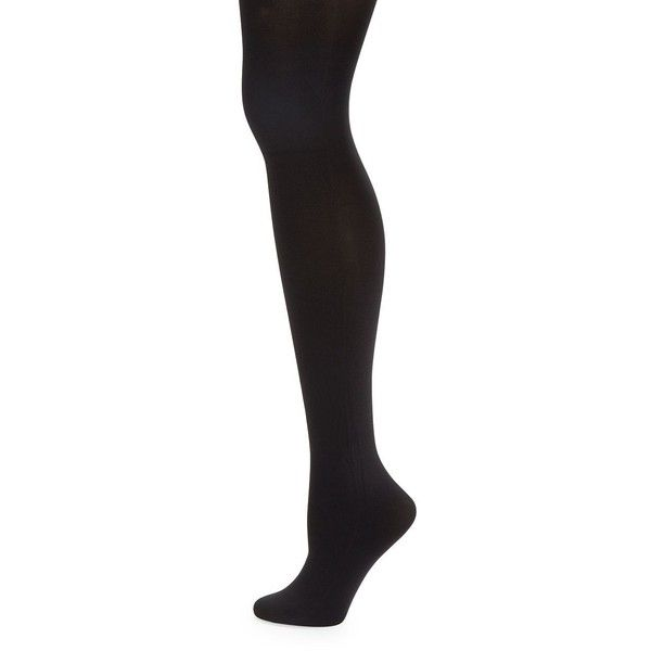 Pretty Polly Plus Opaque Tights ($18) ❤ liked on Polyvore featuring intimates, hosiery, tights, black, opaque hosiery, opaque stockings, pretty polly, pretty polly stockings and opaque pantyhose
