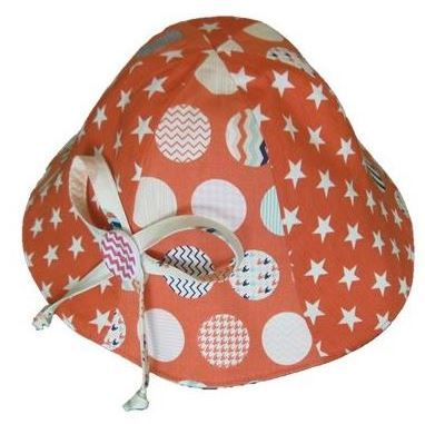 Protect your precious little angels with this cute sun hat. It has a tie under the chin so they can play and it will still shade their face. So easy you can make one to match every outfit.