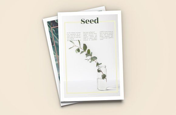 Seed - A4 Magazine Template by Tèrso. on @creativemarket