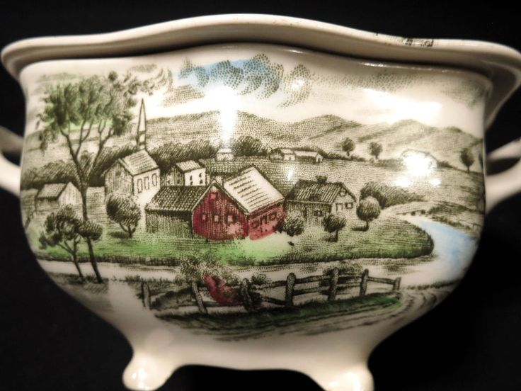 Johnson Brothers The Road Home Footed Sugar Bowl With Lid