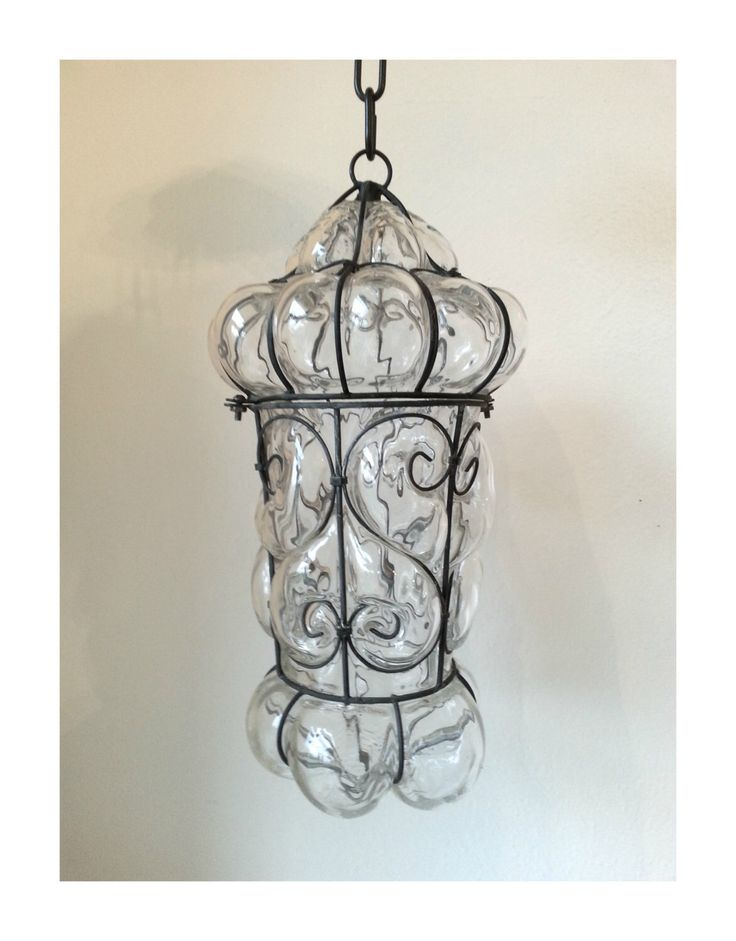Vintage 1940s Crystal Clear Hand Blown Seguso Murano Glass Cage Pendant Lamp by KittyBee9 on Etsy https://www.etsy.com/listing/287160131/vintage-1940s-crystal-clear-hand-blown