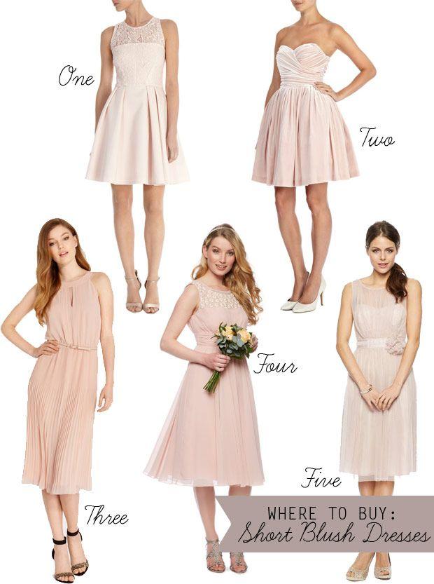 Subtle And Sweet Blush Bridesmaids Dresses