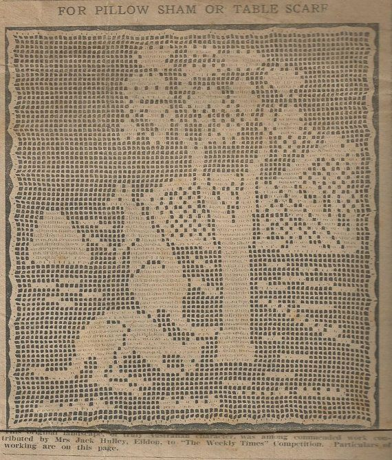 Australiana Crochet Patterns  1920s by LouisaAmeliaJane on Etsy, $5.00