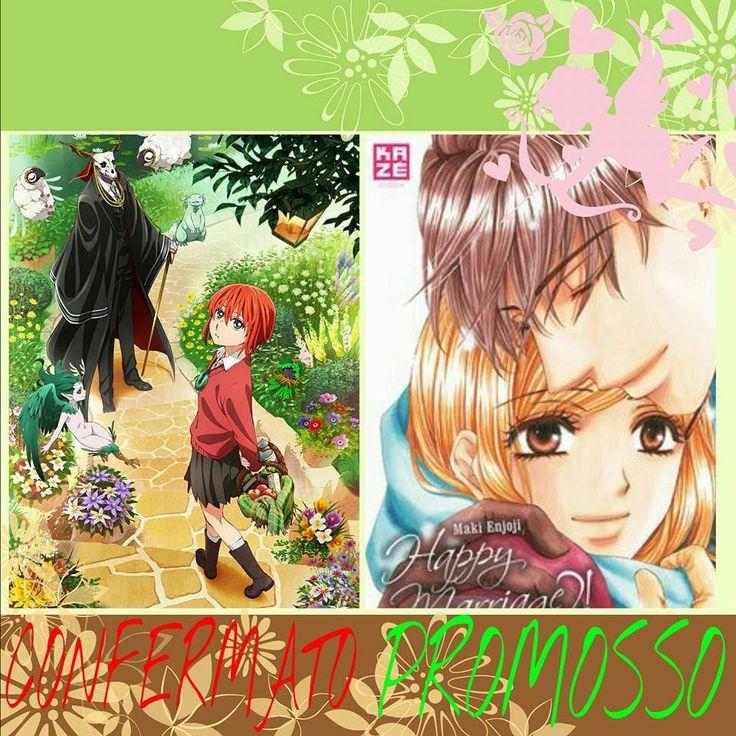 confermato the acient magus bride  e promosso  happy mari ,recensione manga