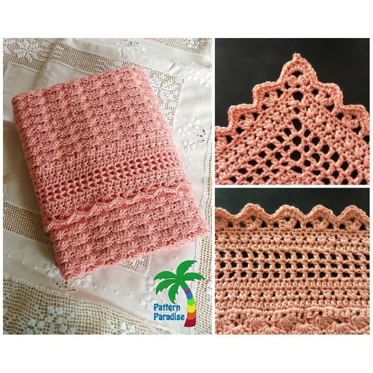 This blanket is made with rows of shells and finished with a beautifully textured border. This is a very elegant baby blanket and would be perfect for a baby shower or newborn gift. Make it in a worsted yarn and it would make a lovely lap blanket too! I also provide guidance for changing sizing, should you wish to adjust for adult sizing. This blanket is part of a coordinated layette set. See separate listings for coordinated sweater, booties, diaper cover and hat!Size: Newborn - 3…