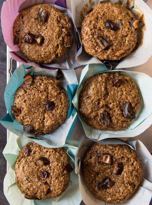 Muffins au son et aux dattes
