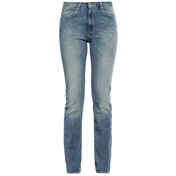 Wrangler Damen Jeans Straight Leg perfect match - reduziert ($99) ❤ liked on Polyvore featuring jeans, wrangler jeans, blue jeans and straight leg jeans