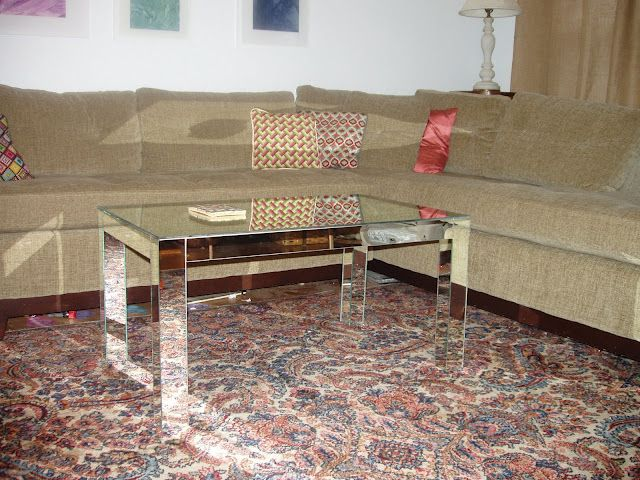 LACK Hack - IKEA Hackers: vintage mirrored luxe for lack coffee table