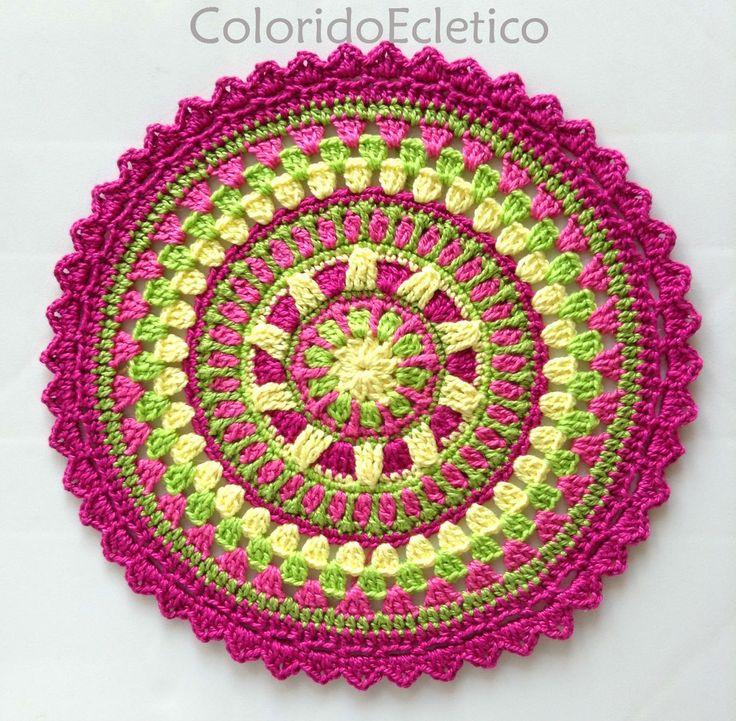 ColoridoEcletico: Mandala ColoridoEcletico - Footsteps... ~ free pattern