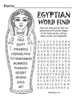 Ancient Egypt Theme Unit