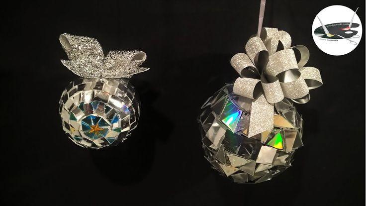 Bombki oklejane mozaiką z płyt CD - Pomysły plastyczne dla każdego