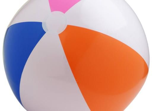 """""""A beach ball is a good way to introduce ball sports to students who are blind or visually impaired, as it is bigger than most other balls, and it also travels more slowly than other types of balls.  In addition, it is easy to place a bell inside the ball when blowing it up, so that there will be a sound source to help children to identify its location."""""""