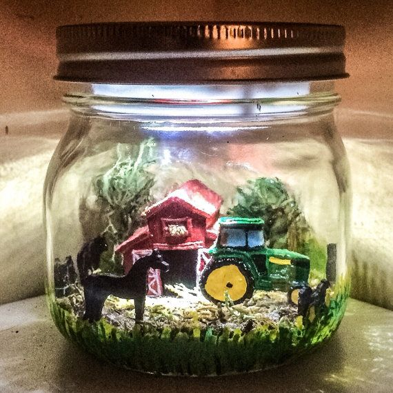 Farm theme LED Night Light John Deere by AmericanaGloriana on Etsy
