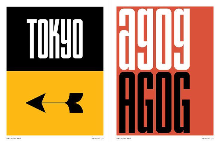NSW01 Typeface - Matt Willey