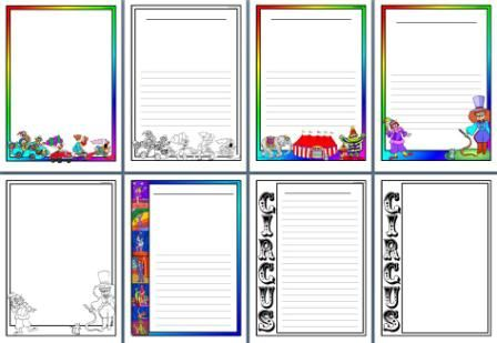 circus / carnival numbers and letters | Circus Theme Teaching Resources, printable banners, borders and more