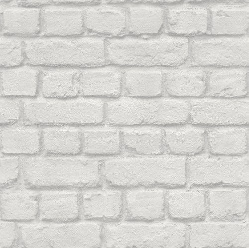 Ταπετσαρία απομίμηση τοίχου με τούβλα λευκό σε ρολό 53*1005 εκατοστά (5,32 τετραγωνικά μέτρα)