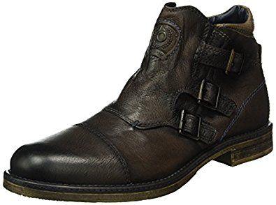 hot sale online cc19e cf1fe Bugatti Men s Biker Boots, Brown  ...