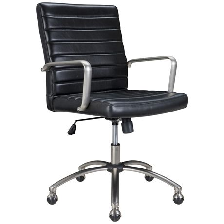 Astor Office Chair in Black Leather was $549, NOW $399 #freedomautumnsale