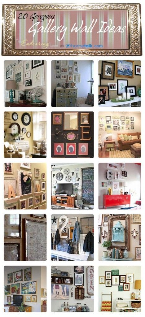 Gallery walls looks amazing and these ideas will inspire you to make your own…I especially love the birdcage idea!