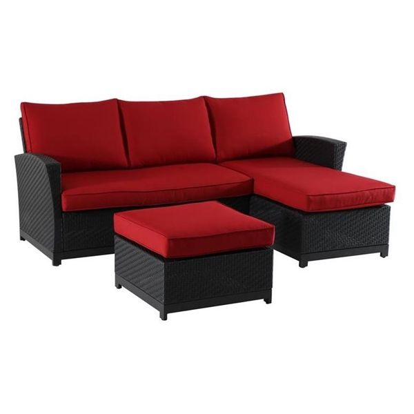 Matheson Patio Sectional Sofa Sectional 3 Piece Sectional