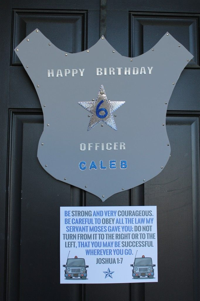 Joshua 1:7 Police Birthday Party With Free Printables | Simply Home Blog