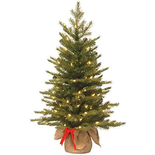3 Ft Feel Real Nordic Spruce Christmas Tree with 50 Warm White Battery Operated LED Lights - http://www.christmasshack.com/christmas-trees/3-ft-feel-real-nordic-spruce-christmas-tree-with-50-warm-white-battery-operated-led-lights/ 3 Ft Feel Real ® Nordic Spruce Christmas Tree with 50 Warm White Battery Operated LED Lights with Timer in Burlap